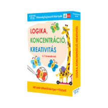 LOGIKA, KONCENTRÁCIÓ, KREATIVITÁS - 5-7 ÉVESEKNEK - KÉSZSÉGFEJLESZTŐ KÁRTYÁK