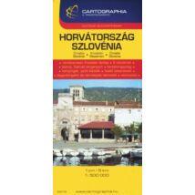 HORVÁTORSZÁG,SZLOVÉNIA TÉRKÉP (SC ÚJ 1:500 000)