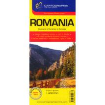 ROMÁNIA TÉRKÉP SC (1:800000)