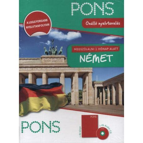 PONS - MEGSZÓLALNI 1 HÓNAP ALATT NÉMET KÖNYV+CD