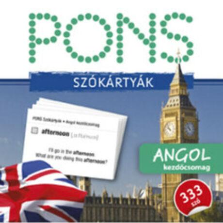 PONS - SZÓKÁRTYÁK - ANGOL KEZDŐCSOMAG