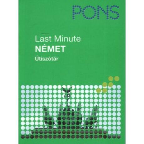 PONS - LAST MINUTE ÚTISZÓTÁR - NÉMET